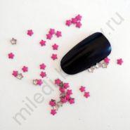 Фигурки металлические - звездочки (3 мм) цвет: фиолетовый.