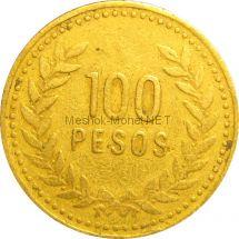 Колумбия 100 песо 1992 г.