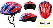 """Шлем защитный для взрослых """"Helmet"""" крас/бел/син"""