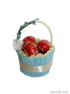 Пасхальная корзинка на 1 яйцо к Пасхе + шоколад в подарок