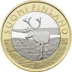 Северный олень.Лапландия 5 евро Финляндия 2015