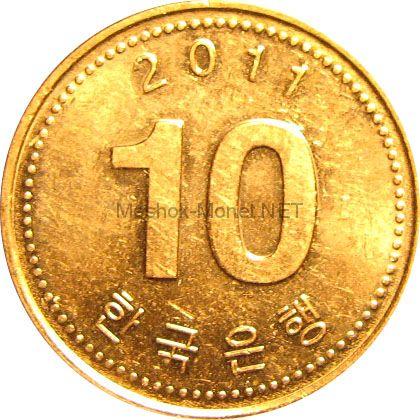Южная Корея 10 вон 2007 г.