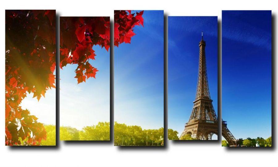 Модульная картина Город. Париж. Эйфелева башня