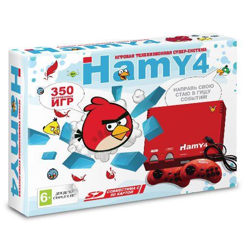 """Sega - Dendy """"Hamy 4"""" (350-in-1) Angry Birds Red"""