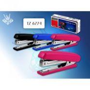 Степлер №10 15 л, пластик, синий/розовый/черный (арт. TZ 6774)