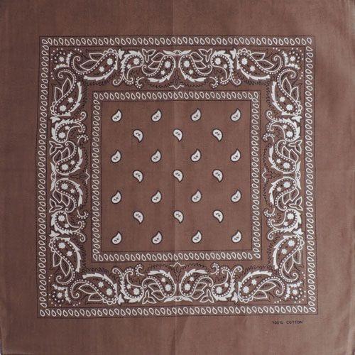 Бандана огурцы в квадрате (коричневая)