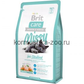 Brit Care Cat Sterilised для стерилизованных кошек курица/рис