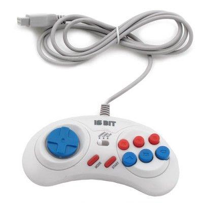 Sega Controller Turbo (1. 5 М) White