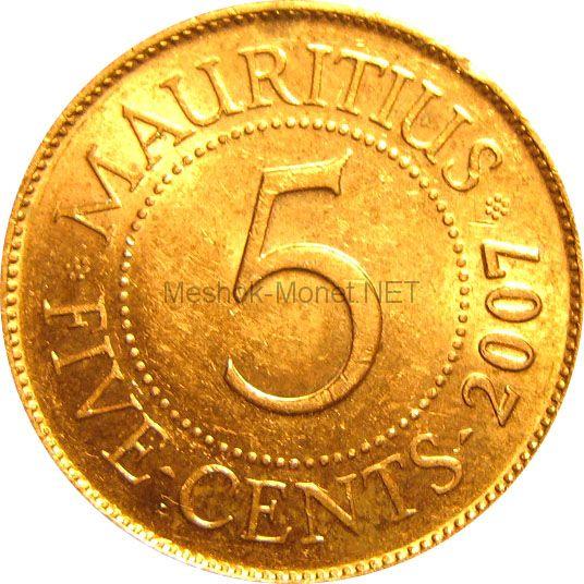 Маврикий 5 центов 1996 г.