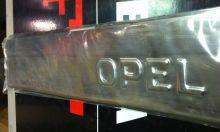 Накладки на пороги, с выдавленным логотипом, нерж. сталь