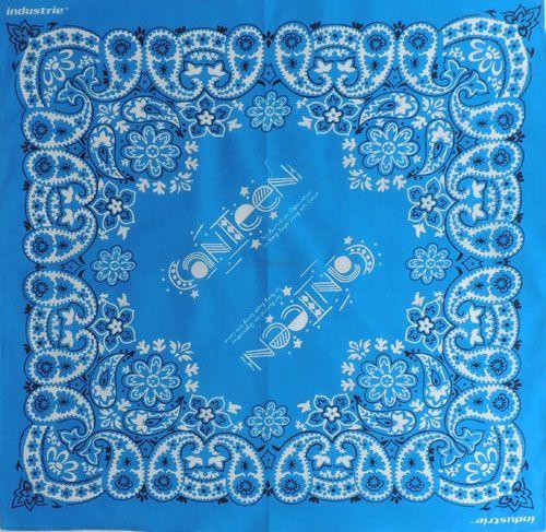 Бандана Огурцы (Paisley) голубая