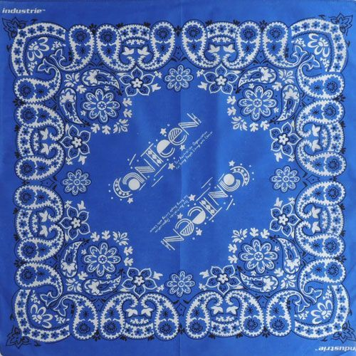 Бандана Огурцы (Paisley) синяя