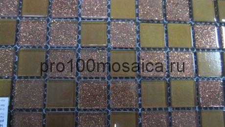 Shine Brown  Мозаика серия CRYSTAL,  размер, мм: 300*300
