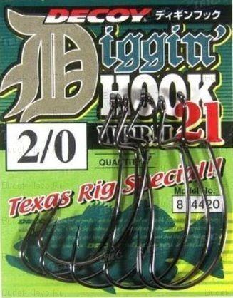 Офсетный Крючок Decoy Digging Hook Worm 21