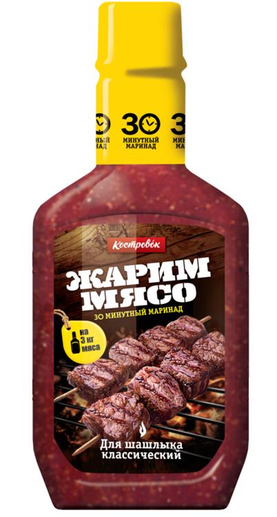 КОСТРОВОК Маринад 300г д/шашлыка классический в пласт. бут.