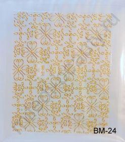 Наклейки 3D BM-24 (золото)