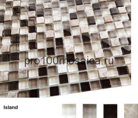 Island Мозаика серия Naturelle 15x15x4, размер, мм: 305*305 (Caramelle)