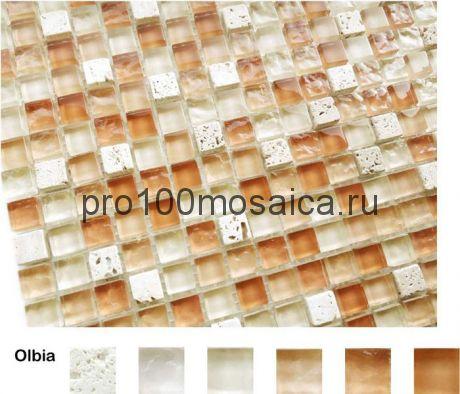 Olbia Мозаика серия Naturelle 15x15x4, размер, мм: 305*305 (Caramelle)