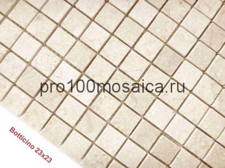 Botticino 23 x 23 POL Мозаика серия Pietrine Stone, размер, мм: 298*298*4 (Caramelle)