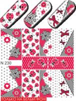 Слайдер-дизайн  N230  (водные наклейки)