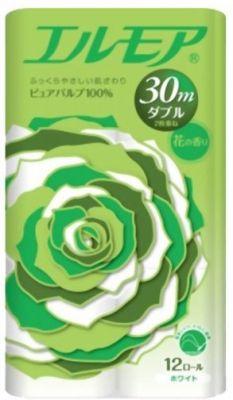 Ароматизированная туалетная бумага двухслойная 30 м 12 рулонов FOREST GREEN Ellemoi
