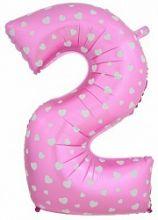 """Фигура """"2""""  (102 см), розовый"""