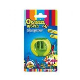 """Точилка Ocean World """"Fancy"""", 2 отверстия, с накопителем, блистер"""