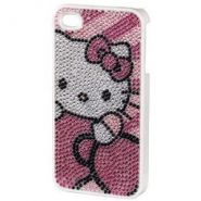 Чехол для телефона Hello Kitty H-107320 pink для Apple iPhone 4/4S пластик стразы