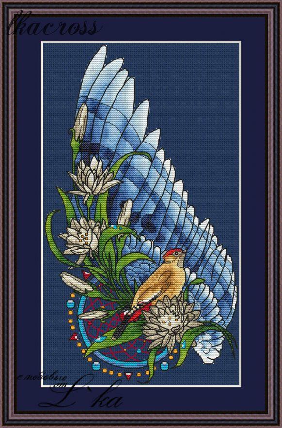 """""""Ловец снов - Птица"""". Схема/набор для вышивания крестиком."""