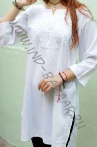 Белые индийские рубашки с белой вышивкой (СПб)