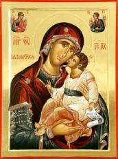 Сладкое лобзание икона Божией Матери (рукописная)