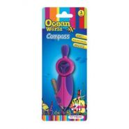 """Циркуль Ocean World """"Fancy"""", пластиковый, + карандаш, обрезиненный корпус, блистер"""