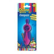 "Циркуль ""Ocean World. Fancy"", пластиковый, + карандаш, обрезиненный корпус, блистер (арт. KR970538)"