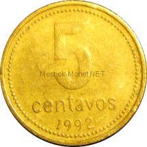 Аргентина 5 сентаво 2008 г.