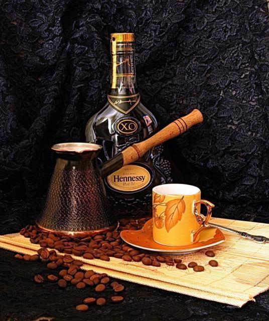 Коньяк - десертный кофе в зернах