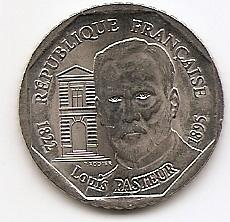 100 лет со дня смерти Луи Пастера 2 франка  Франция 1995