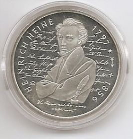 200 лет со дня рождения Генриха Гейне 10 марок Германия 1997 D