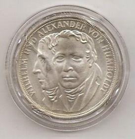 Вильгельм и Александр Гумбольт 5 марок Германия 1967 F
