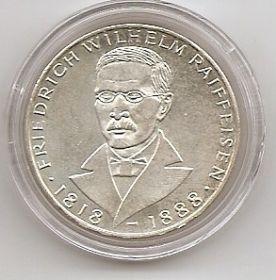 150 лет со дня рождения Фридриха Вильгельма Райффайзена 5 марок Германия 1968 J
