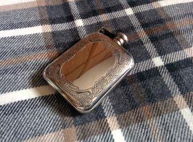 Фляжка из британского пьютера- Кельтский узор Бран-  Bran Stamped , English Pewter