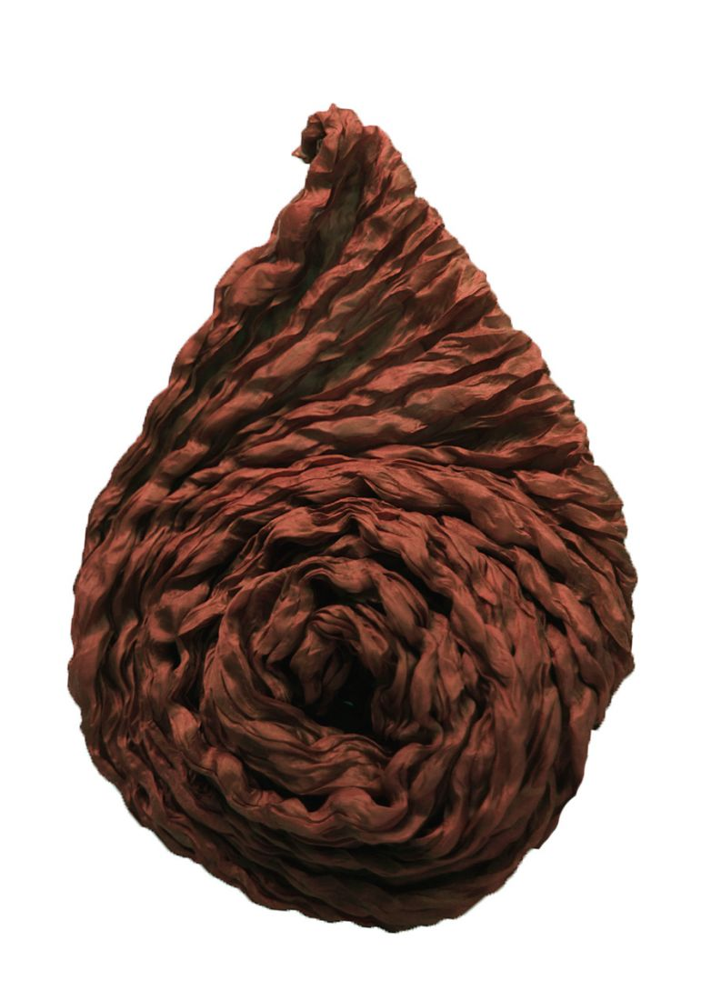 Индийский шёлковый шарф-парео шоколадного цвета (СПб)