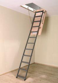 Складная металлическая лестница чердачная LMS