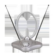 Комнатная антенна REXANT RX-1000 VHF, UHF, FM, 40-862 MHz с усилителем 36dB