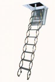 Металлическая огнестойкая лестница чердачная LSF