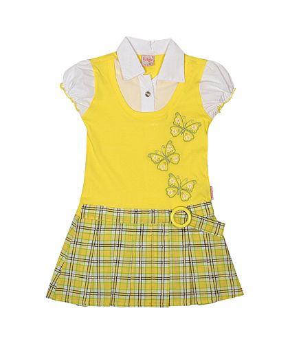 """Превосходное комбинированное платье с эффектом """"2 в 1"""""""