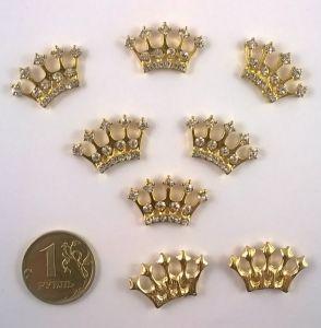 Кабошон, металл, цвет основы - золото, 23*14мм. 1уп = 10шт