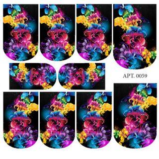 Слайдер-дизайн для ногтей № 0059