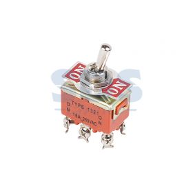 Двухполюсный тумблер 250V 6А (6c) ON-ON (KN-202)