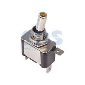 Однополюсный тумблер 12V 25А (3c) ON-OFF с желтой подсветкой LED (ASW-07D) (блистер)