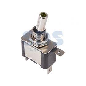 Однополюсный тумблер 12V 25А (3c) ON-OFF с зеленой подсветкой LED (ASW-07D) (блистер)